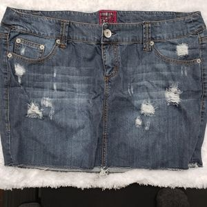 Torrid Distressed Mini Denim Skirt 18